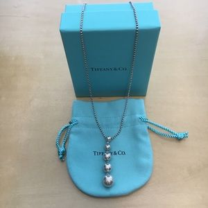 Tiffany & Co. Bead Graduated Drop Pendant Necklace
